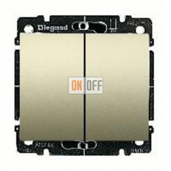 Выключатель двухклавишный, проходной (вкл/выкл с 2-х мест) 10 А / 250 В~ 775808 - 771412
