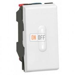 Выключатель Mosaic для управления с двух мест 10АХ с подсветкой (1 модуль) белый 77002 - 67686