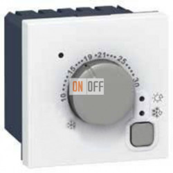 Термостат Mosaic стандартный, 2 модуля, белый 76720