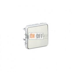 Одноклавишный выключатель-переключатель с подсветкой 10А IP55 Legrand Plexo, белый 69613