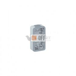 Коробка для накладного монтажа, 2 поста вертикальная IP55 Legrand Plexo, серый 69661