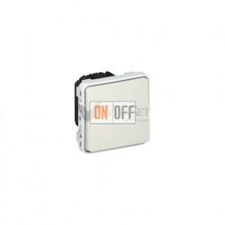 Кнопочный выключатель (Н.О.+Н.З. контакты) 10А IP55 Legrand Plexo, белый 69631