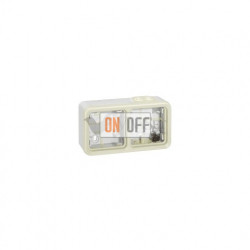 Коробка для накладного монтажа, 2 поста горизонтальная IP55 Legrand Plexo, белый 69690