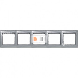 Рамка пятерная Legrand Valena алюминий модерн 770345