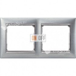 Рамка двойная Legrand Valena матовый алюминий 770332