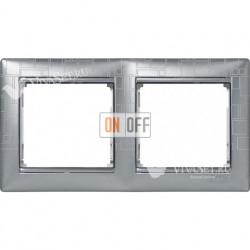 Рамка двойная Legrand Valena алюминий модерн 770342