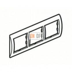 Рамка тройная, для горизонтального монтажа Legrand Valena, алюминий 770153