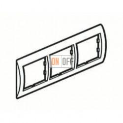 Рамка тройная, для горизонтального монтажа Legrand Valena, алюминий/серебро 770353