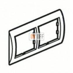Рамка двойная, для горизонтального монтажа Legrand Valena, ноктюрн/серебро 770392