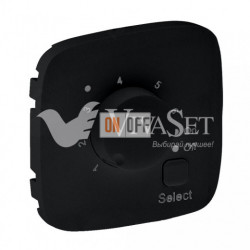 Термостат с датчиком для теплых полов 16 A - 230 В~ Valena Allure, матовый черный 752034 - 755328