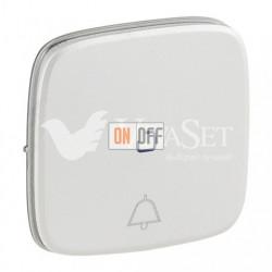 Кнопочный выключатель с символом звонок c подсветкой  6 A - 250 В, Valena Allure перламутр 752011 - 67686 - 755094
