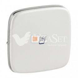 Кнопочный выключатель с подсветкой 6 A - 250 В, Valena Allure перламутр 752011 - 67686 - 755089