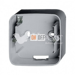 Одноместная коробка для накладного монтажа Valena Allure, алюминий 755571