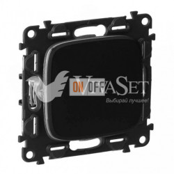 Кнопочный выключатель  6 A - 250 В, Valena Allure матовый черный 752011 - 755008