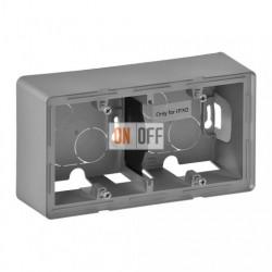 Двухместная коробка для накладного монтажа Valena Life, алюминий 754212