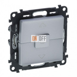 Кнопочный выключатель управления для жалюзи и рольставней 10 A – 250 В Valena Life, алюминий 752030 - 755142