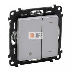 Кнопочный светорегулятор без нейтрали 5-400 Вт Valena Life, алюминий 752062 - 754892