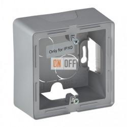 Одноместная коробка для накладного монтажа Valena Life, алюминий 754211