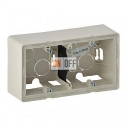 Двухместная коробка для накладного монтажа Valena Life, слоновая кость 754202