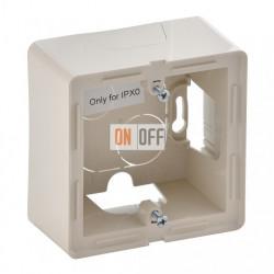 Одноместная коробка для накладного монтажа Valena Life, слоновая кость 754201