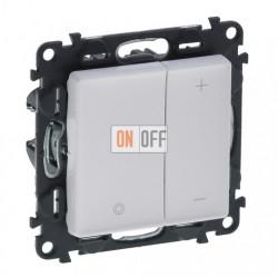 Кнопочный светорегулятор без нейтрали 5-400 Вт Valena Life, белый 752062 - 754890