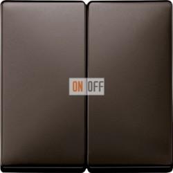 Выключатель двухклавишный, проходной (вкл/выкл с 2-х мест) 10 А / 250 В~, цвет коричневый MTN3126-0000 - MTN3400-4015