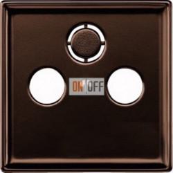 Розетка телевизионная оконечная TV SAT FM, диапазон частот от 4 до 2400 MГц, цвет коричневый MTN466097 - MTN4123-4015