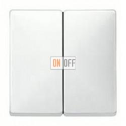 Выключатель двухклавишный, проходной (вкл/выкл с 2-х мест) 10 А / 250 В~ MTN3126-0000 - MTN412519