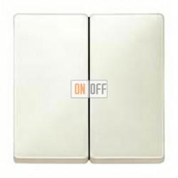Выключатель двухклавишный, проходной (вкл/выкл с 2-х мест) 10 А / 250 В~ MTN3126-0000 - MTN412544