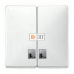 Выключатель двухклавишный с подсветкой, 10 А / 250 В~ MTN3135-0000 - MTN413519