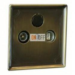 Розетка телевизионная проходная TV FM, диапазон частот от 4 до 2400 MГц MTN466098 - MTN294143