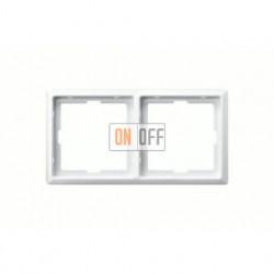 Рамка двойная, для горизон./вертикал. монтажа Merten Artec, белый глянцевый MTN481219