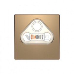 Розетка TV FM SAT  диапазон частот от 4 до 2400 MГц Merten D-life, шампань металл MTN466097 - MTN4123-6051