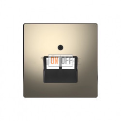 Розетка компьютерная двойная RJ45 6-й кат. Merten D-life, никель металл EPUAE8-8UPOK6 - MTN4522-6050