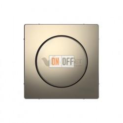 Светорегулятор поворотно-нажимной 20-420 Вт универсальный Merten D-life, никель металл MTN5138-0000 - MTN5250-6050