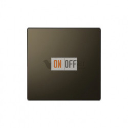 Заглушка с опорной пластиной Merten D-life, мокко металл MTN4075-6052