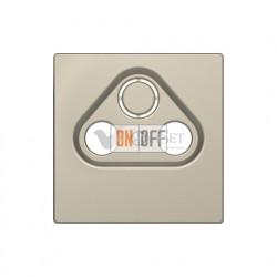 Розетка TV FM SAT  диапазон частот от 4 до 2400 MГц Merten D-life, сахара MTN466097 - MTN4123-6033