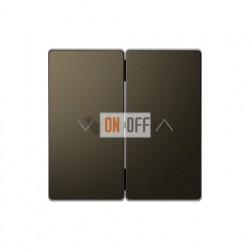 Выключатель управления жалюзи кнопочный, 10 А / 250 В~ Merten D-life, мокко металл MTN3755-0000 - MTN3855-6052