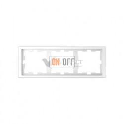 Рамка тройная Merten D-life белый лотос MTN4030-6535