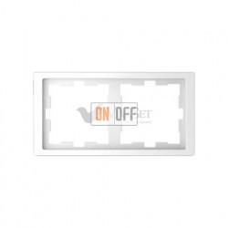 Рамка двойная Merten D-life белый лотос MTN4020-6535