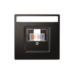 Розетка USB двойная для зарядки Merten D-life, антрацит MTN4366-0000 - MTN4250-6034