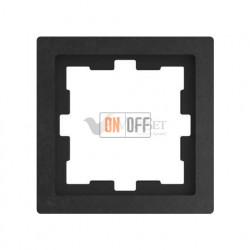 Рамка одинарная Merten D-life базальт, камень MTN4010-6547