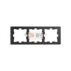Рамка тройная Merten D-life антрацит MTN4030-6534