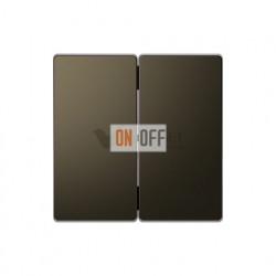 Выключатель двухклавишный, 10 А / 250 В~ Merten D-life, мокко металл MTN3115-0000 - MTN3400-6052