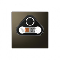 Розетка TV FM SAT  диапазон частот от 4 до 2400 MГц Merten D-life, мокко металл MTN466097 - MTN4123-6052