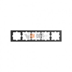 Рамка пятерная Merten D-life антрацит MTN4050-6534
