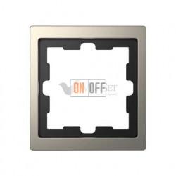 Рамка одинарная Merten D-life никель металл MTN4010-6550