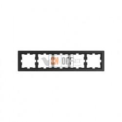 Рамка пятерная Merten D-life базальт, камень MTN4050-6547