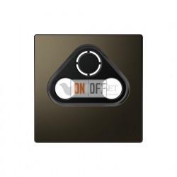 Розетка TV FM проходная, диапазон частот от 4 до 2400 MГц Merten D-life, мокко металл MTN466098 - MTN4123-6052