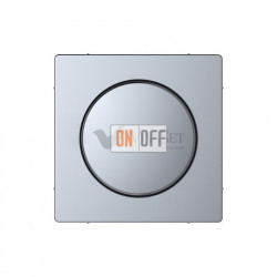 Светорегулятор поворотно-нажимной 20-420 Вт универсальный Merten D-life, нержавеющая сталь MTN5138-0000 - MTN5250-6036